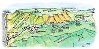 Eagle Creek Cartoon Map