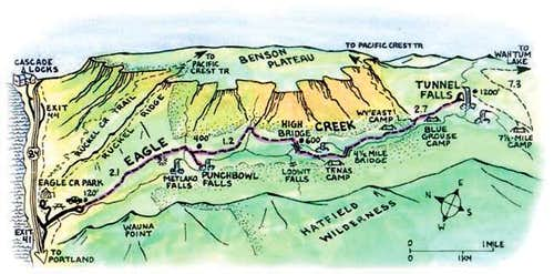 Eagle Creek Cartoon Map