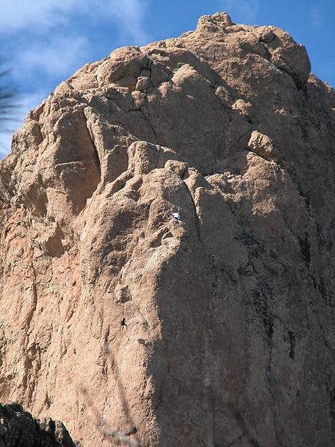 Another climber hauling up...
