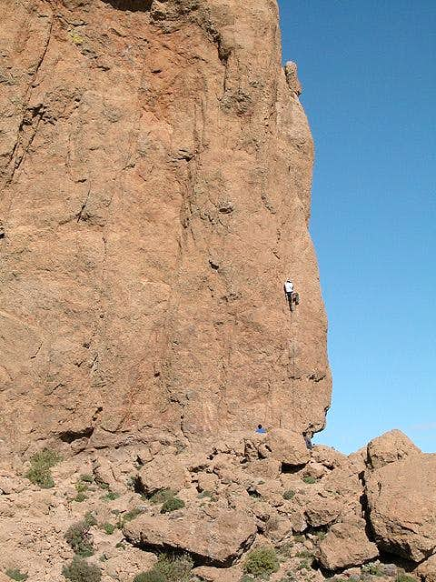 Starting out to climb the...