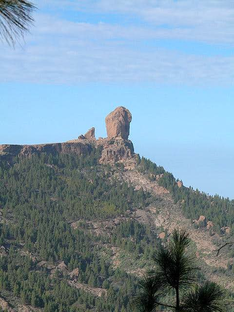 Roque Nublo (1803m) from near...