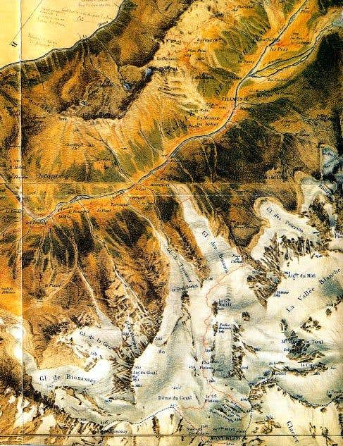 Mont Blanc: A part of the Map...