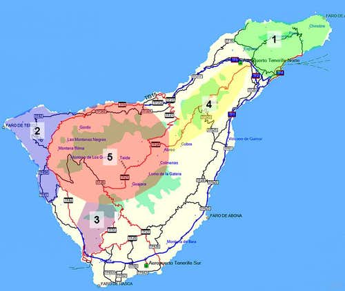 Overview Map Tenerife