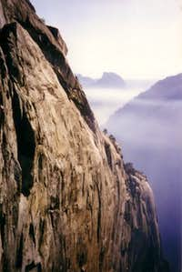 A view from El Cap. Smoke...