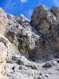 First steep part on the Haidsteig