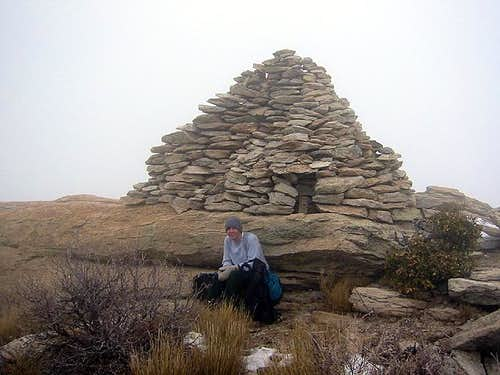 The summit cairn of Rincon Peak
