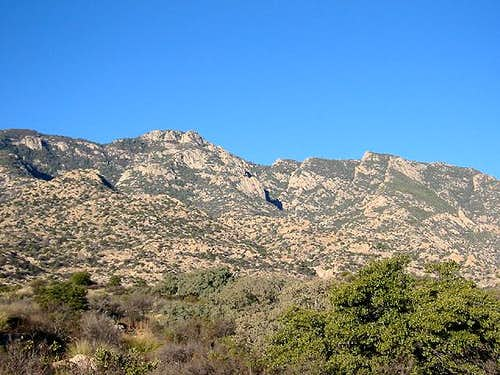 Rincon Peak (left-center)...
