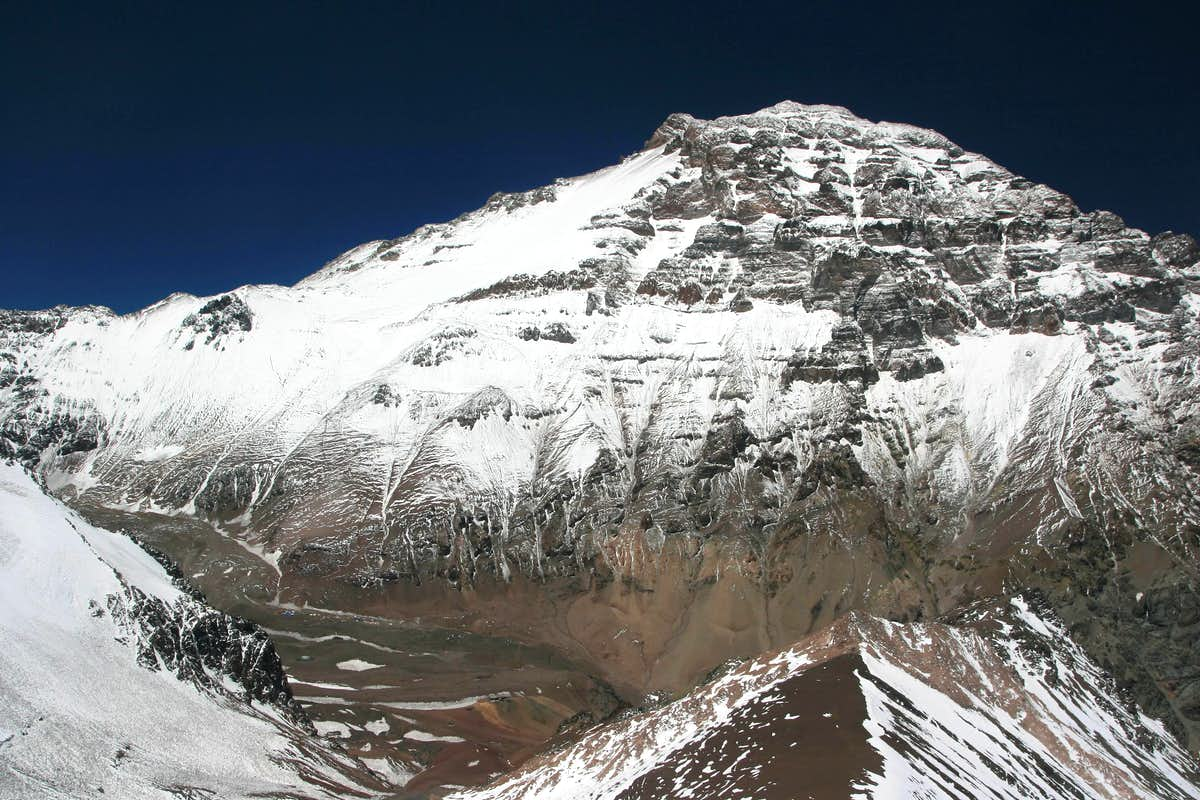 Aconcagua overview from Bonete