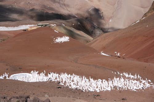 Landscape with penitentes
