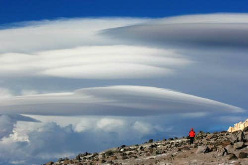 lenticular clouds at Nido