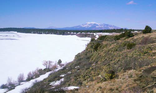 Mormon Lake Trail in late winter