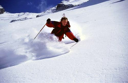 Skiing from Radeckscharte...