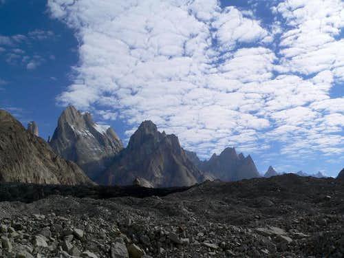 Majestic faces of Baltoro Glacier, Karakoram, Pakistan