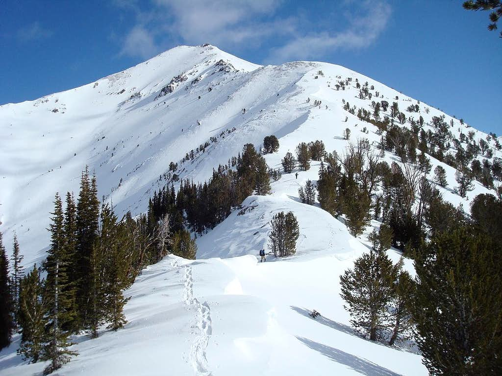 Climbers on Southwest Ridge