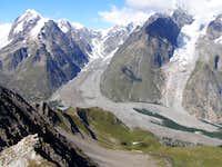 Miage Glacier from Col des Charmonts