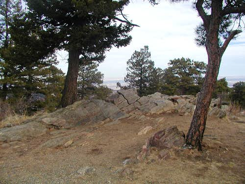 Rocky outcropping atop Genesee\'s summit