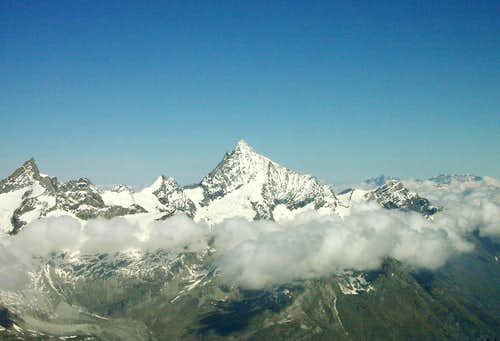 Weisshorn from the Breithorn