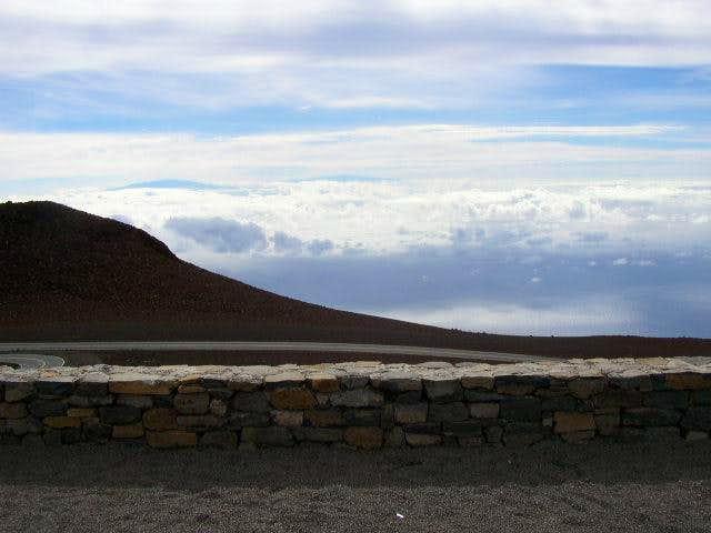 Mauna Kea left, Mauna Loa...