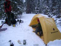 Camp at 11,860 feet