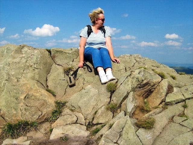 On top of Mount Wielka Rawka