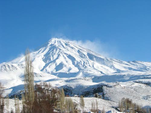 Damavand in winter costume!