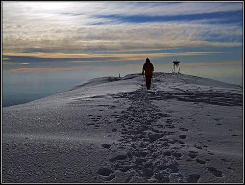 Monte Cuar summit ridge