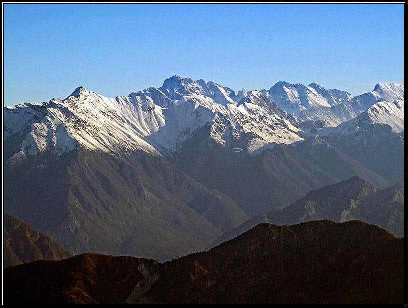 Julian Alps from Monte Cuar