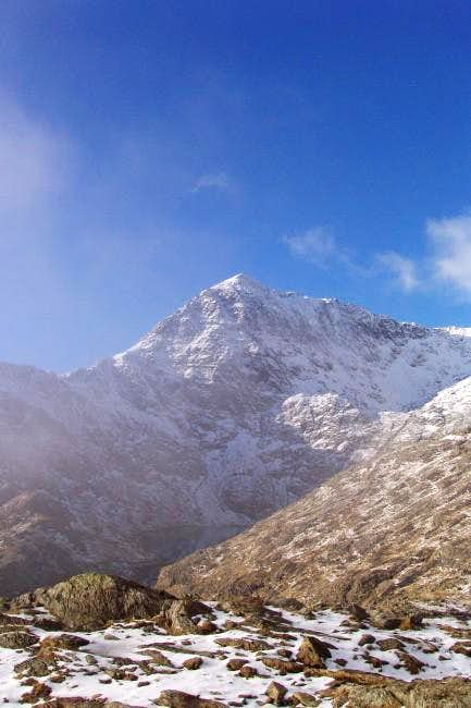 The classic view of Snowdons...