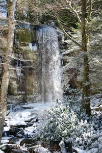 Rainbow Falls in Snow