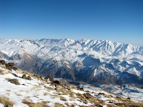 view toward south east from 3500 m on Damavand