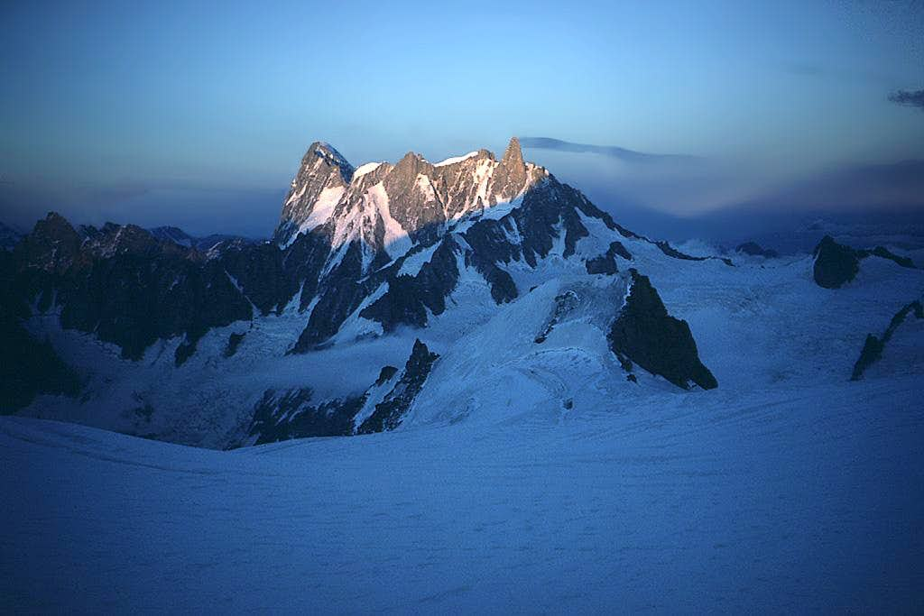 from Cosmiques hut - at sunset