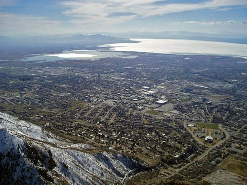 Looking down on Provo