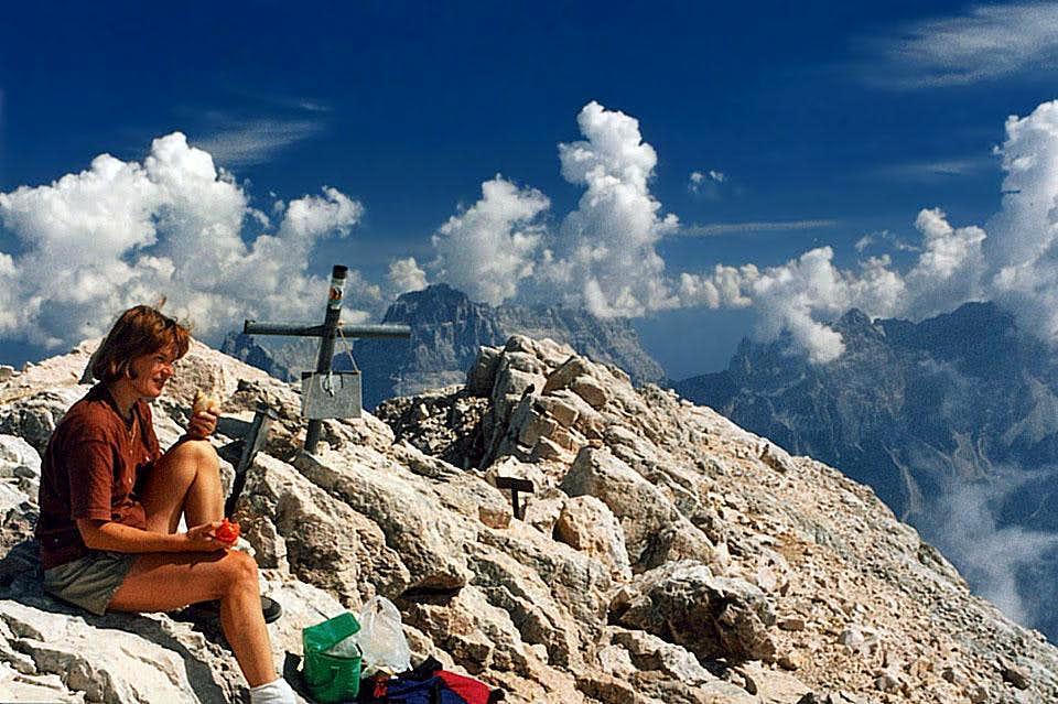 Summer on the summit of Monte...