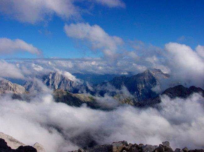 Jubiläumsgrat with Alpspitze...