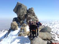 Me & my friends near Alvand peak