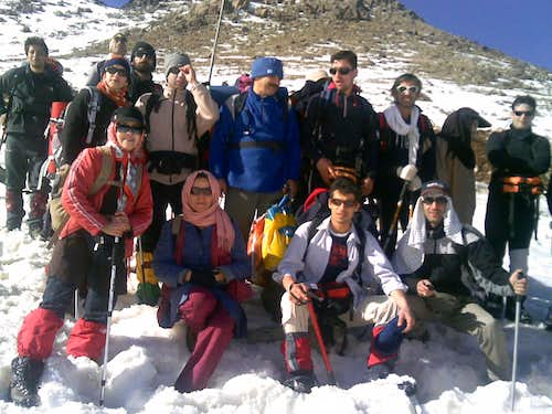Our group for Alvand peak