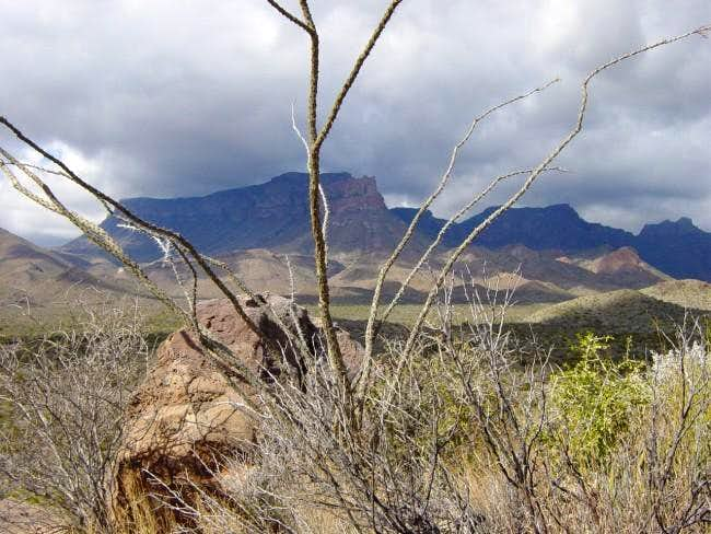 Weather moves over the Chisos...