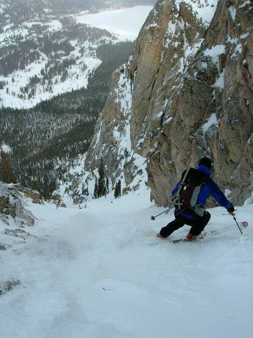 Skiing North Face Chute (Point 9115)