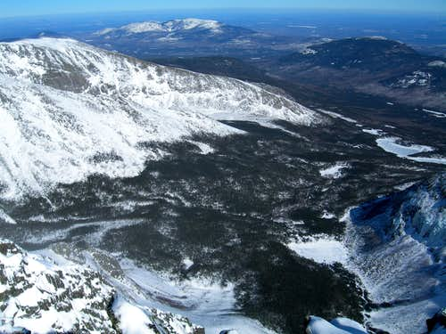 Looking Down to Chimney Pond