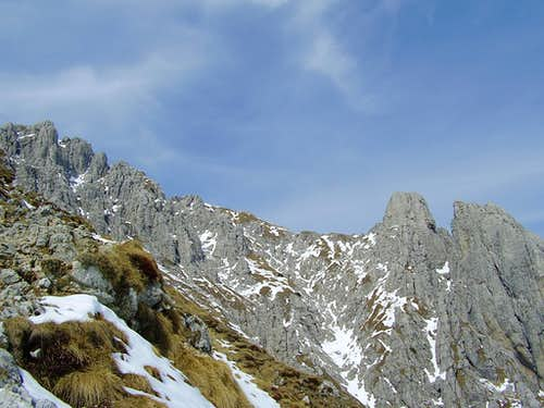 Upper part  of Sinigaglia ridge