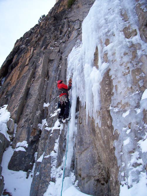 Eric at the first pitch on Ames Ice Hose