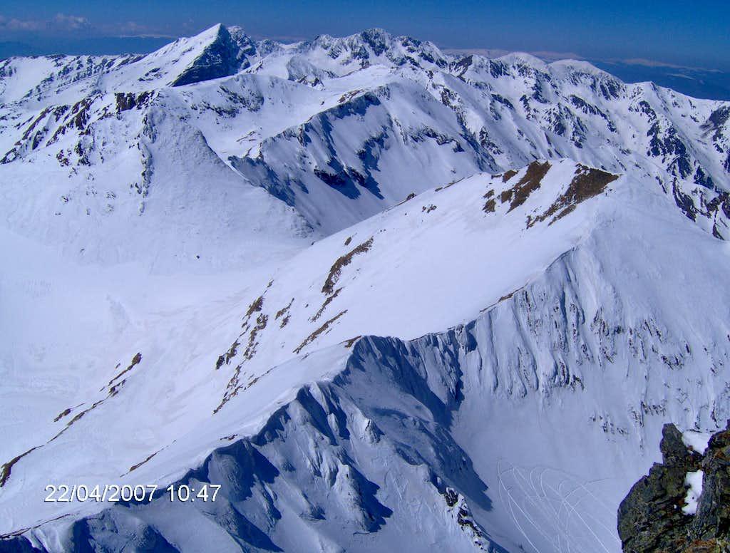 The main ridge of Fagaras mountains