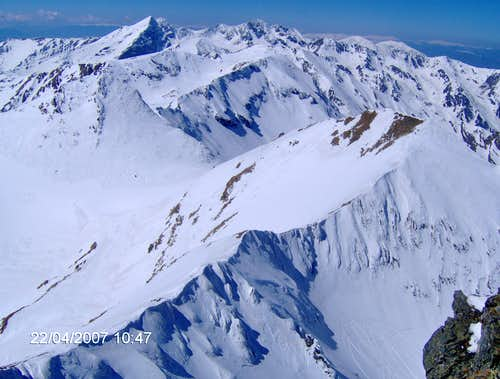 The main ridge of Fagaras mountains