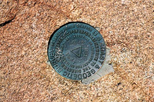 Burro Peak triangulation marker
