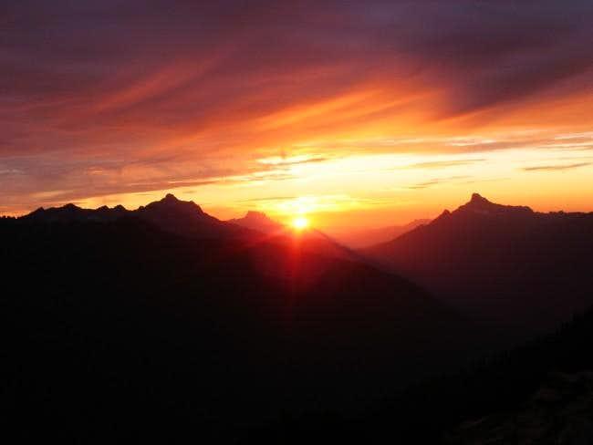 sunset from Boulder Basin...