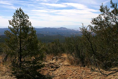 Burro Peak route view