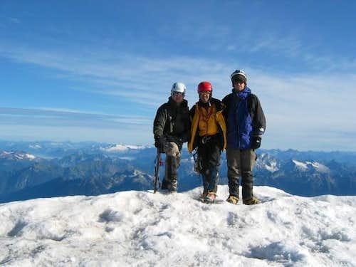 Summit Team Photo! Me, Rod,...