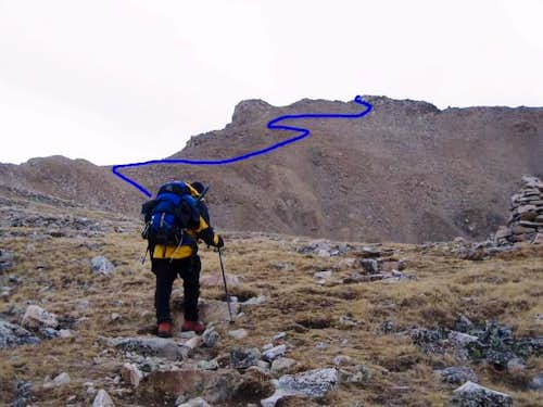 Approx. line of ascent...