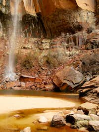 Waterfall in Heap\'s Canyon, Zion National Park