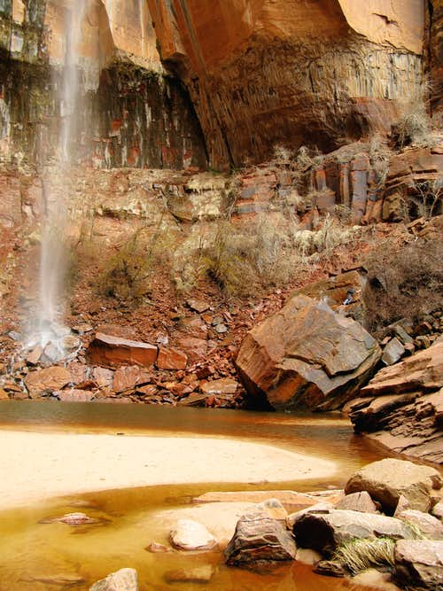 Waterfall in Heap's Canyon, Zion National Park